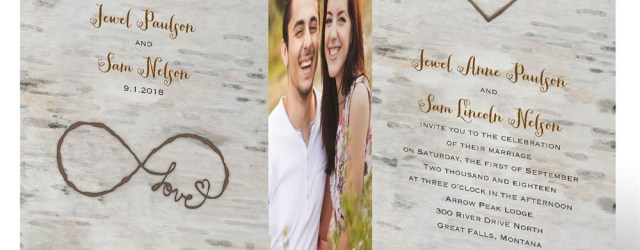 Wedding Invitations With Photo Love For Infinity Zfold Invitation Invitations Dawn