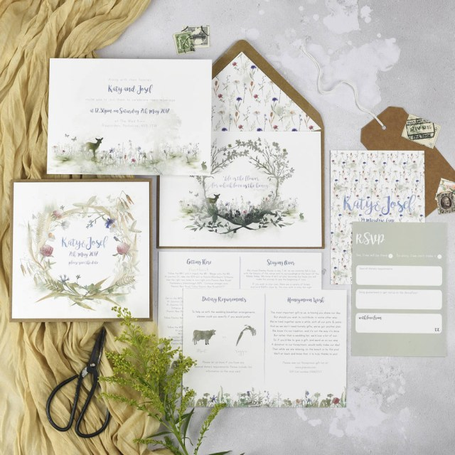 Wedding Invitations With Photo Wildflower Wedding Invitations Julia Eastwood
