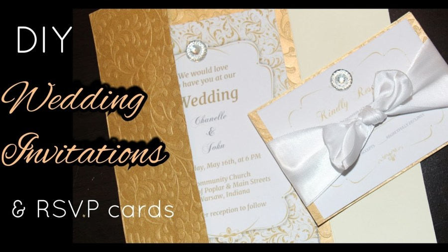 Wedding Invitations With Rsvp Diy How To Make Elegant Gold Wedding Invitations Rsvp Cards