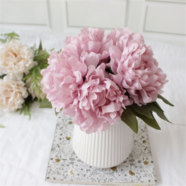 Wedding Party Decorations 2019 Diy Bridal Bouquet Vivid Peony Artificial Flowers Home Wedding