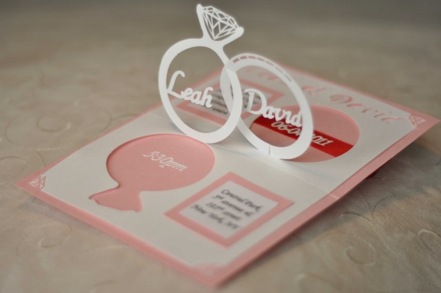 Wedding Pop Up Invitations Wedding Invitation Linked Rings Pop Up Card Template Creative Pop