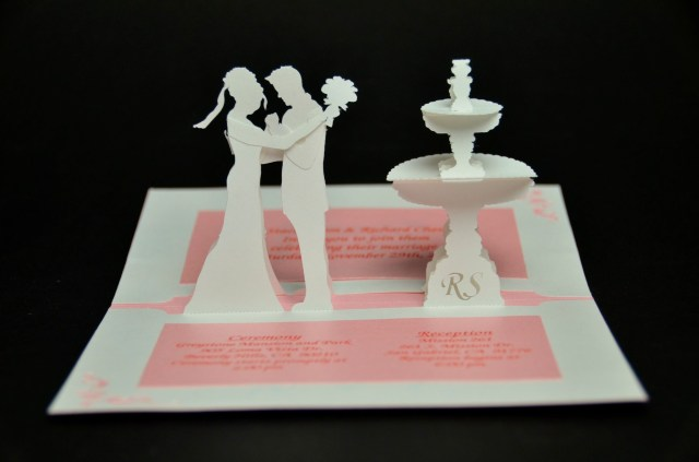 Wedding Pop Up Invitations Wedding Invitation Pop Up Card Bride And Groom Diy Wedding Ideas