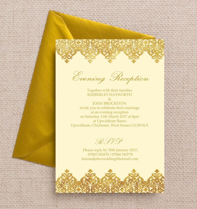 Wedding Reception Invitation Top 10 Printable Evening Wedding Reception Invitations