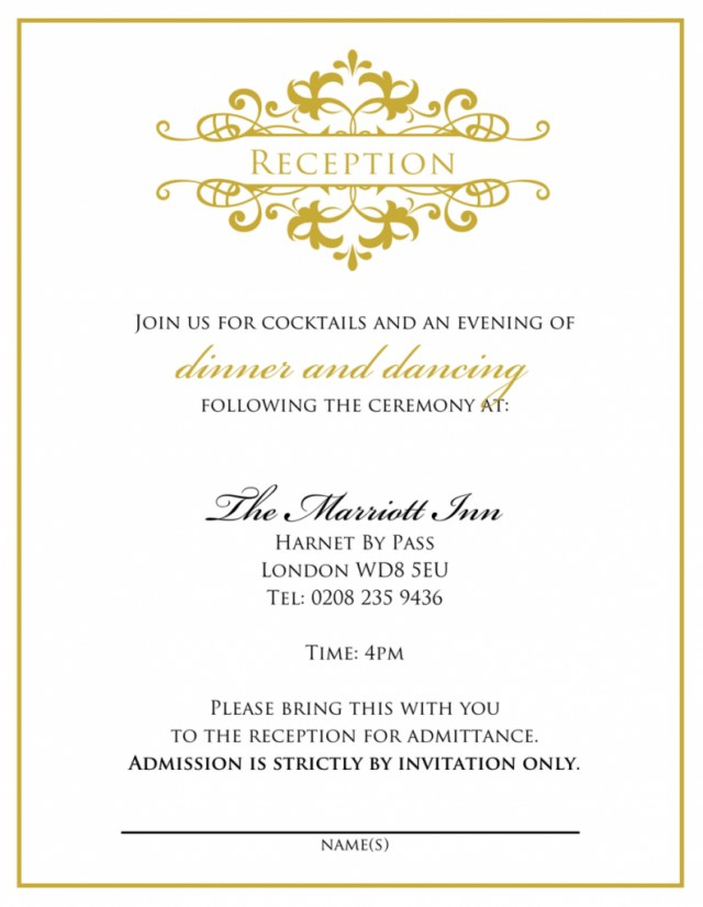 Wedding Reception Invitation Wedding Invitation Wording From Bride And Groom Wedding Tips