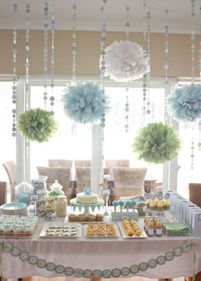 Wedding Shower Decor Bridal Shower Decorations Tissue Paper Poms And Garland Etsy
