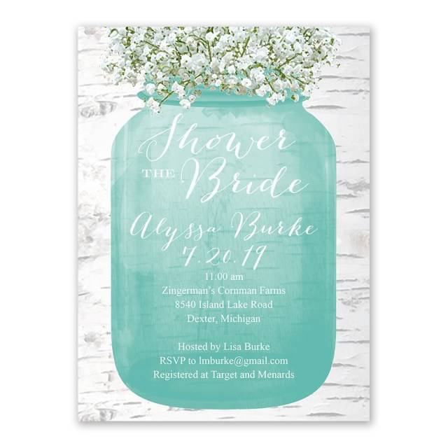 Wedding Shower Invites Bas Breath Bridal Shower Invitation Anns Bridal Bargains