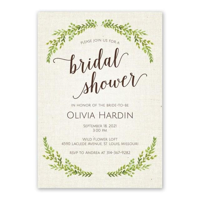 Wedding Shower Invites Botanical Bride Bridal Shower Invitation Invitations Dawn