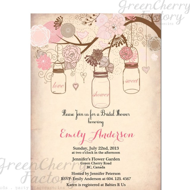 Wedding Shower Invites Vintage Bridal Shower Invitation Templates Free Projects To Try