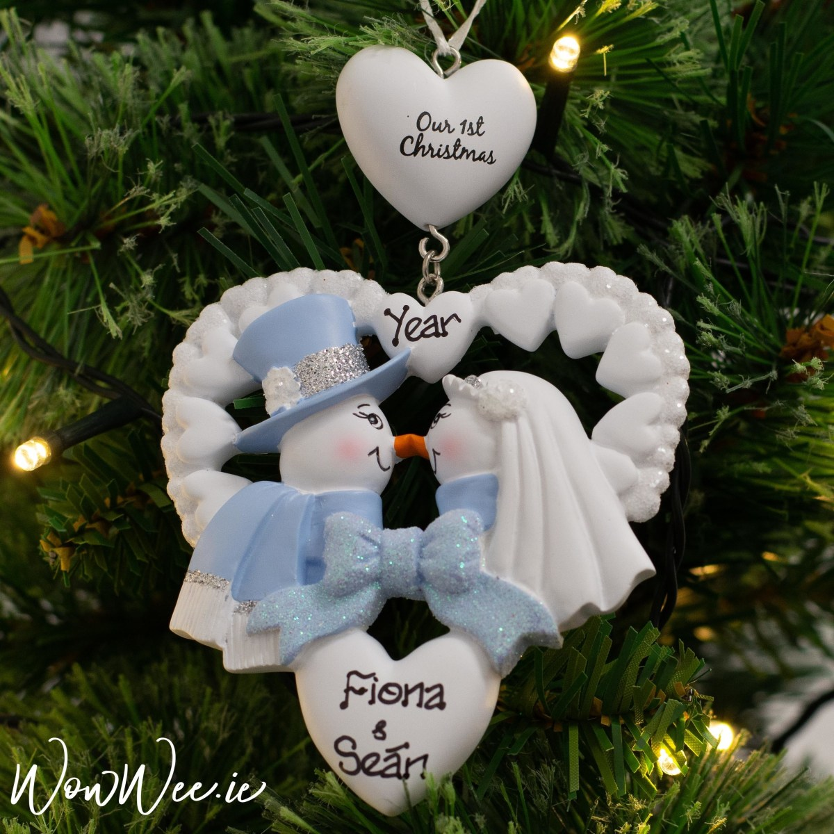 Wedding Tree Decorations Personalised Wedding Christmas Ornament Personalised Our First