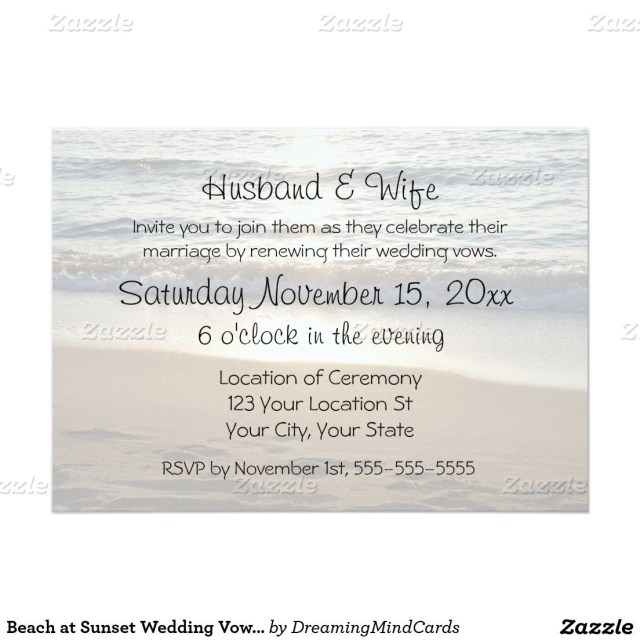 Wedding Vow Renewal Invitations Beach At Sunset Wedding Vow Renewal Invitations In 2018 We Still