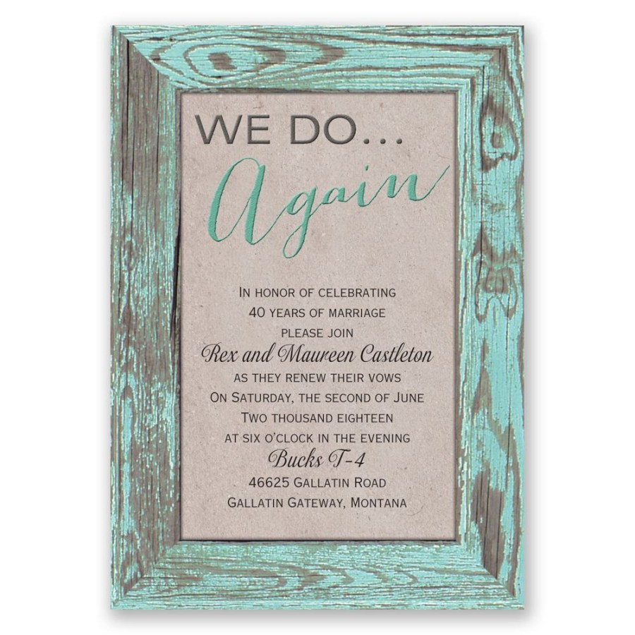 Wedding Vow Renewal Invitations Tried And True Vow Renewal Invitation Invitations Dawn