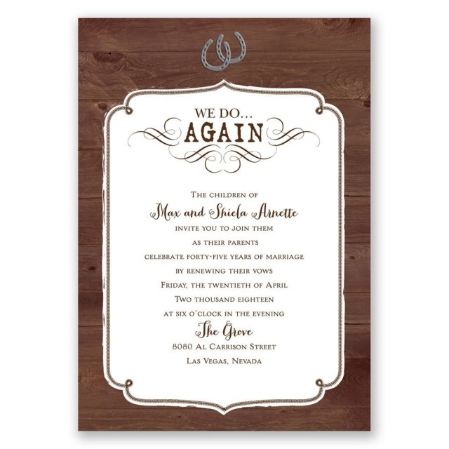 Wedding Vow Renewal Invitations Western Revival Vow Renewal Invitation Invitations Dawn