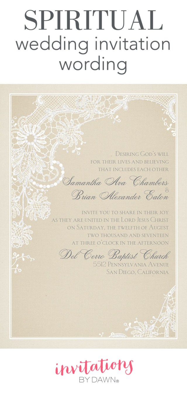 What To Say On Wedding Invitations Spiritual Wedding Invitation Wording Invitations Dawn