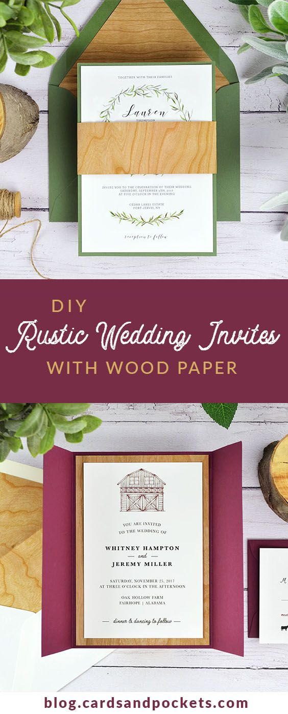5c7e410626e Woodsy Wedding Invitations 4 Ways To Diy Rustic Wedding Invitations With  Wood Paper Pinterest