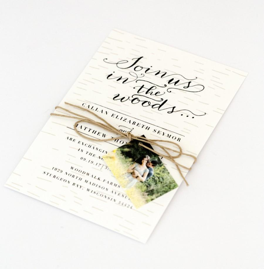 Woodsy Wedding Invitations Woodsy Wedding Invitations Rustic Intimate Outdoorsy Wedding