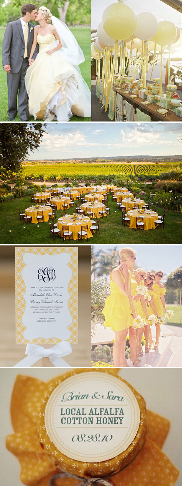 Yellow Wedding Decorations What Your Wedding Color Says About Your Personality Bridalguide