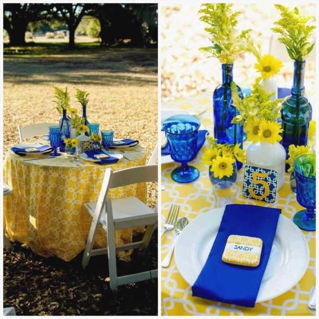 Yellow Wedding Decorations Yellow Wedding Decorations Diy Royal Blue And Yellow Wedding