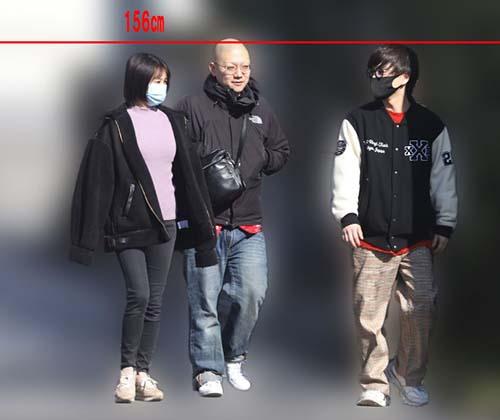 優里と高木紗友希の身長比較
