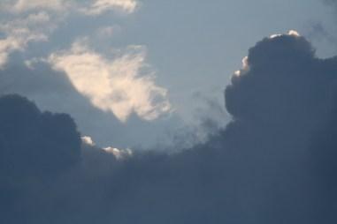 Dramatiske skyer.