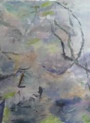 Pyt Olie på lærred 70x65 cm 2016
