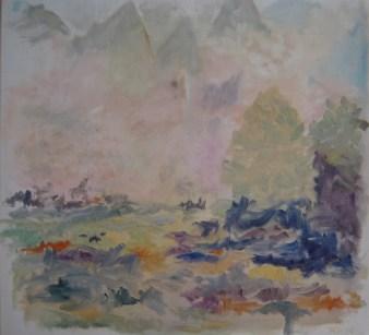 Højslette i Transsylvanien Olie på ærred 65x60 cm 2014