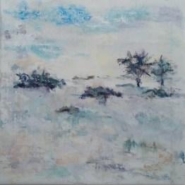 Vintermorgen Olie på lærred 50x50 cm