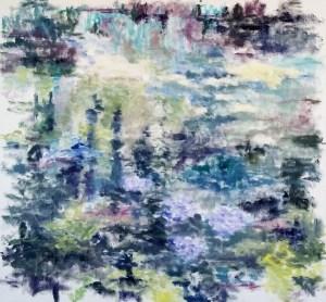 Stille vand Olie på lærred 80x75 cm