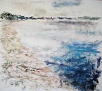Hejlskov strand Olie på lærred 55x50 cm