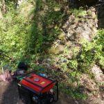 truhlářská, zámečnická a zednická dílna v lese