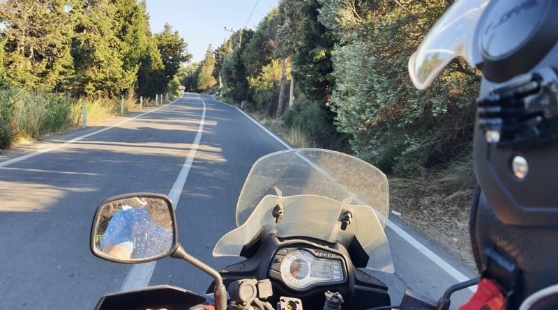 yol manzarası, motosikletle yol