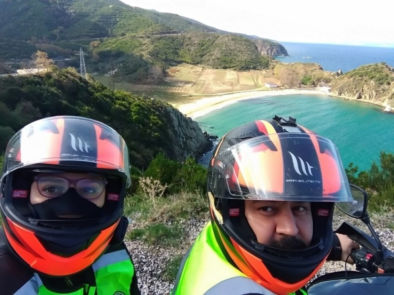 motosikletle adriyatik turu temsili