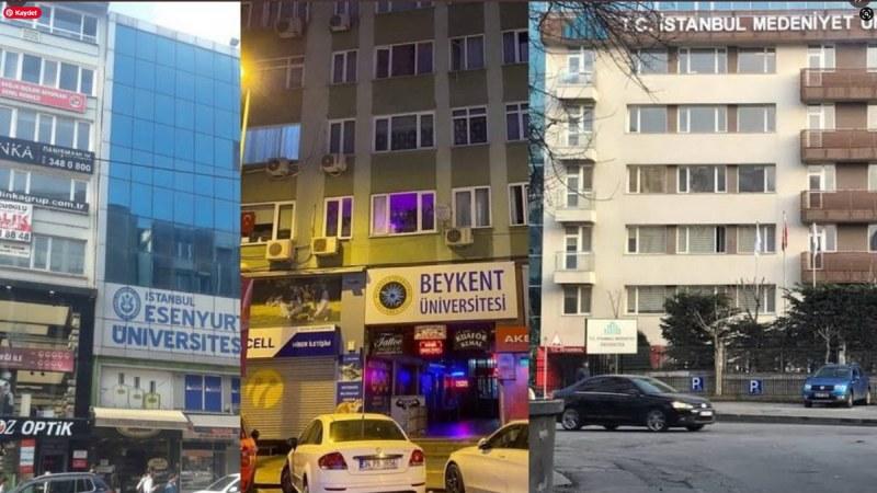 Türkiye'de üniversitelerin durumu ortada