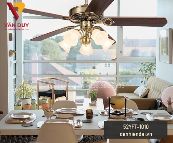 Quạt trần đèn tân cổ điển 52YFT 1010 20200605 03