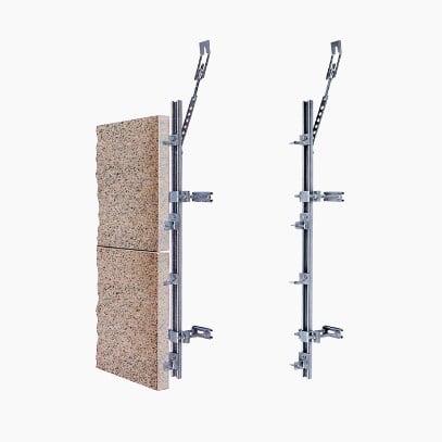 Akmens fasado tvirtinimo sistema HALFEN SUK, UKB Denia Solutions 2