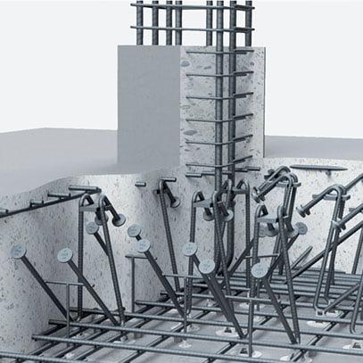 Pamatų armatūra atspari spaudimui HDB-Z Halfen Denia Solutions Pavyzdys 2