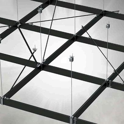 Parodų, koncertų salių įrangos kabinimo sistema - HVG VERSOGRID Halfen Denia Solutions pavyzdys 3