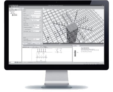 Skersine armatura nuo praspaudimo HALFEN HDB Denia Solutions Skaiciavimo programa