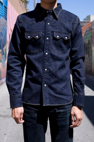 The Flat Head sawtooth denim shirt 1