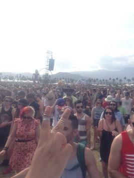 Large crowds.