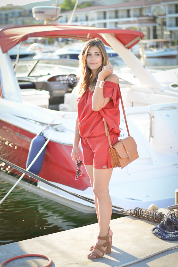 Rusty Red Jumpsuit from Pause Jeans styled by Denina Martin