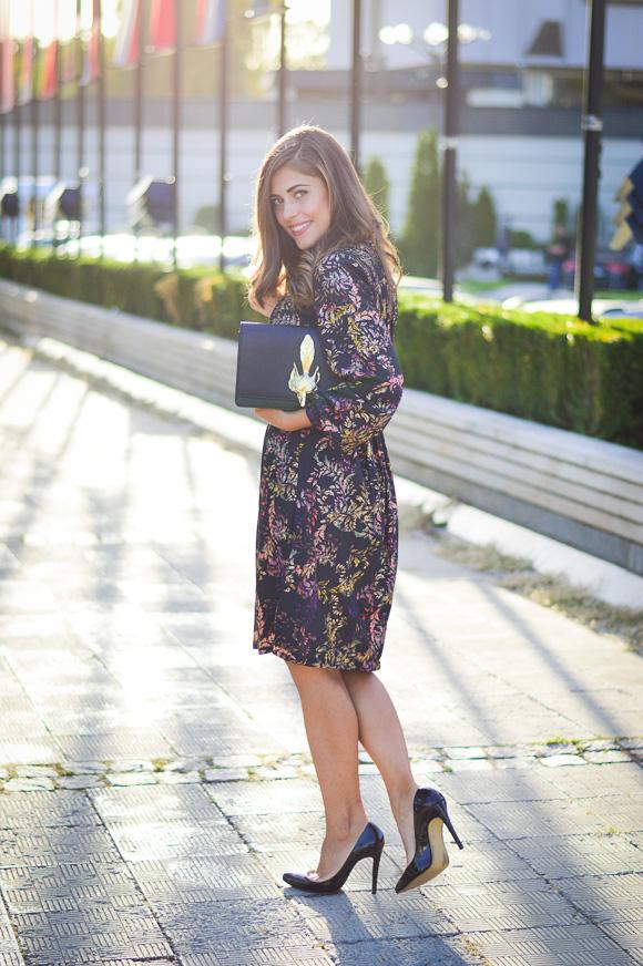 Sofia-Fashion-Week-Day1-HM-Dress-Fox-Clutch-Denina-Martin-3