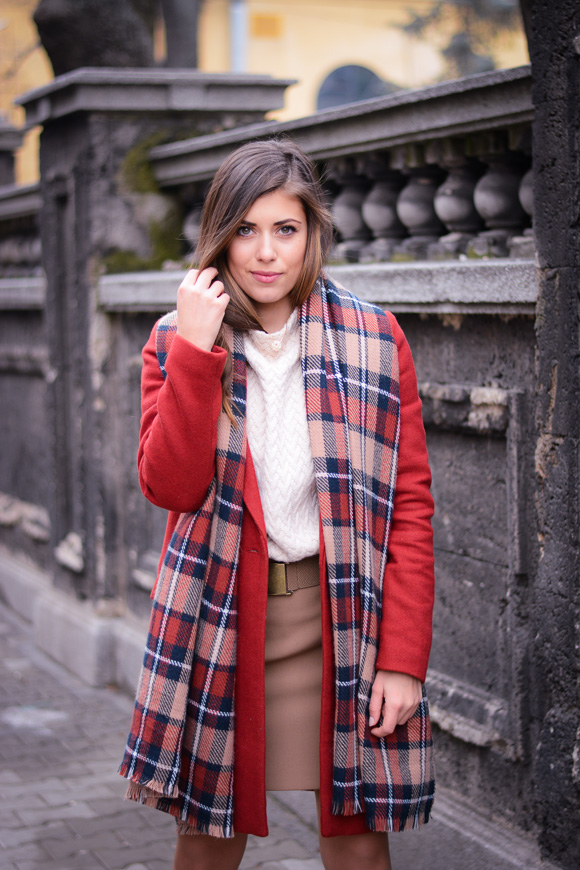 Winter-Red-Coat-Plaid-Scarf-Suede-Boots-Denina-Martin-4
