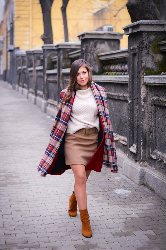 Winter-Red-Coat-Plaid-Scarf-Suede-Boots-Denina-Martin-5