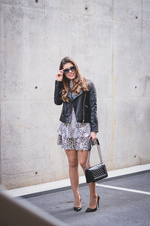Biker-Jacket-Ruffle-Dress-Mango-Rocker-Chic-Denina-Martin-1