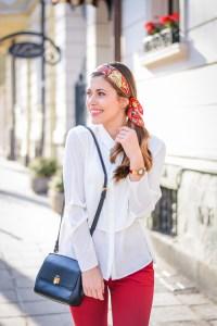 The Vivid Golden Kalinka of FREYWILLE styled by Bulgarian Fashion Blogger Denina Martin