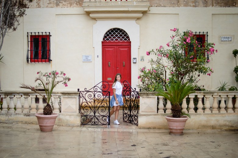Denina Martin at Mdina town