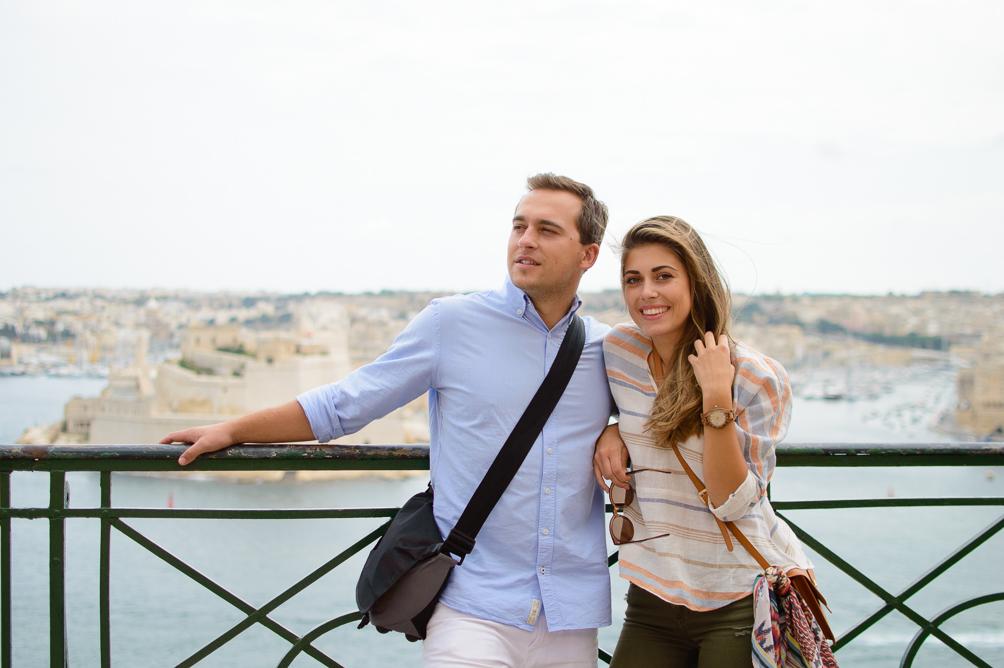 Couple Ruslan and Denina Exploring Malta City of Valletta