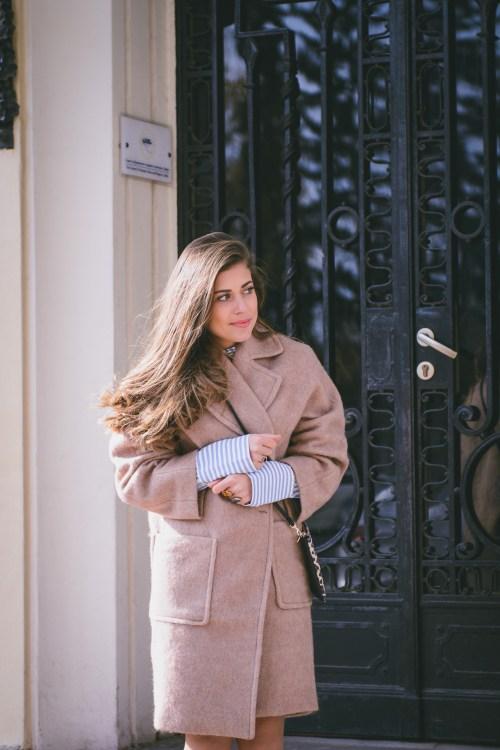 H&M camel coat