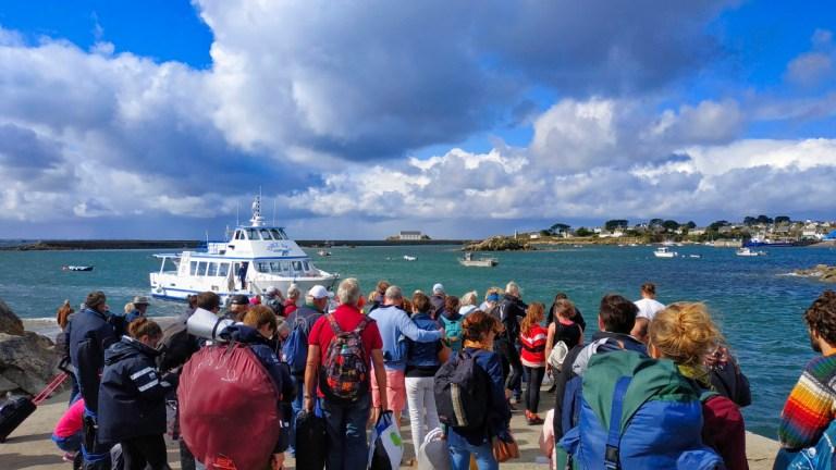 Passagers à l'île de Batz