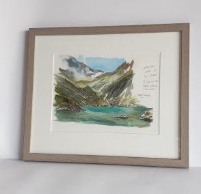 Lac Crozet, aquarelle 21x30